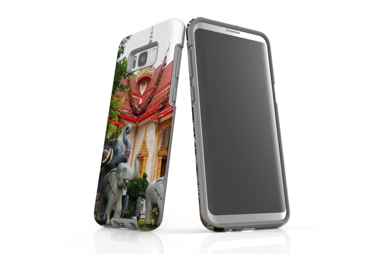 For Samsung Galaxy S8+ Plus Case Armour Cover  Elephant at the Temple