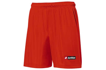 Lotto Mens Football Sports Futbol Shorts (Flame Red) (MB)