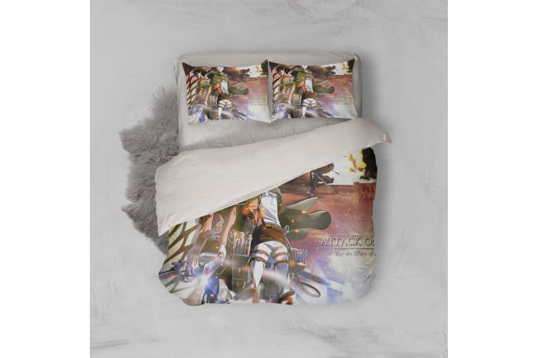 3D Anime Attack Giant Quilt Cover Set Bedding Set Pillowcases 68-King