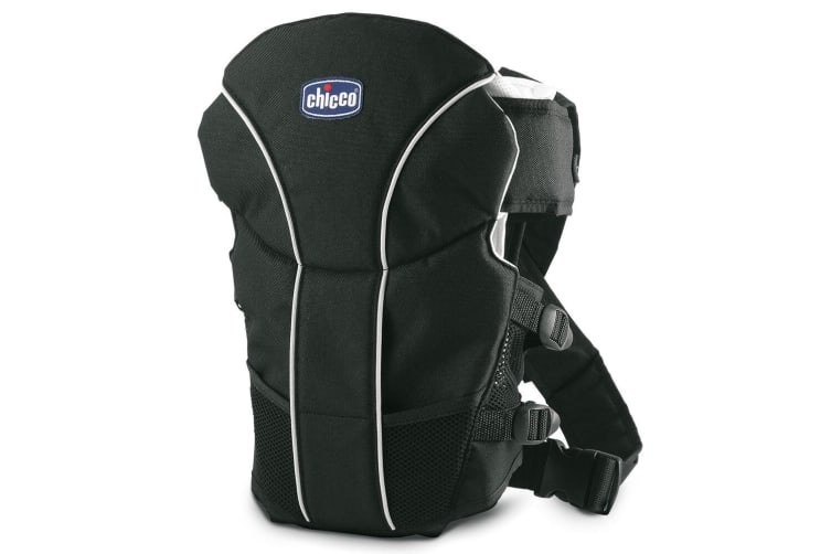 Chicco Ultrasoft Infant/Newborn Baby Wrap Backpack Carrier Adjustable Strap BLK