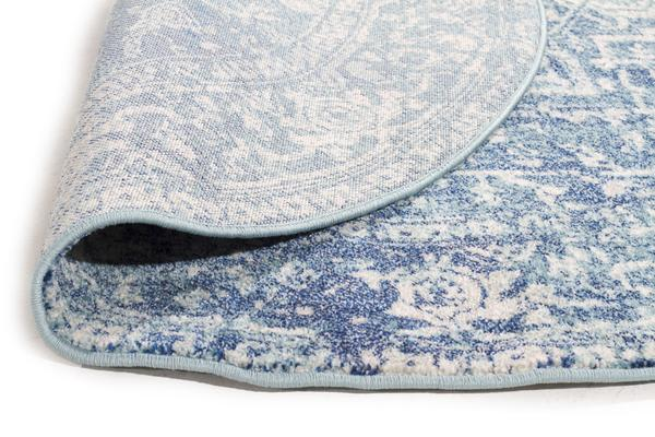 Muse Blue Transitional Rug 400x80cm