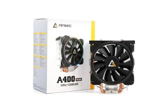 Antec A400 RGB CPU Air Cooler, Direct Heat-Pipies, Silent RGB 12CM PWM Fan,