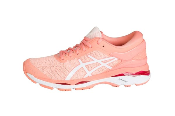 ASICS Women's Gel-Kayano 24 Running Shoe (Seashell Pink/White/Begonia Pink, Size 10)