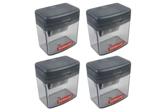4x Derwent Two/Twin Hole Stationery School/Office Supplies Pencil Sharpener Grey