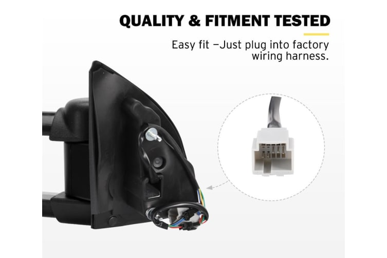 SAN HIMA Pair Extendable Towing Mirrors for Ford Ranger MK PX XL XLT XLS Wildtrak 2012-ON