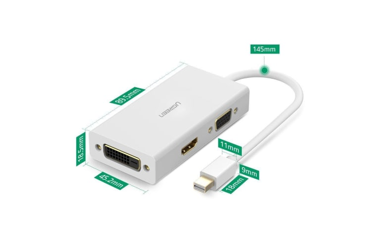 UGREEN Mini DP to HDMI/VGA/DVI converter 13.3cm (20417)