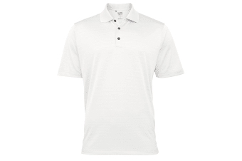 Adidas Golf Climalite Mens Textured Solid Polo Shirt (White) (S)