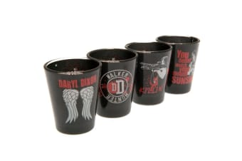 The Walking Dead Premium Shot Glass Set (Pack Of 4) (Black/Red/Grey) (One Size)