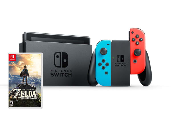 Nintendo Switch: The Legend of Zelda: Breath of the Wild Console Bundle - Neon