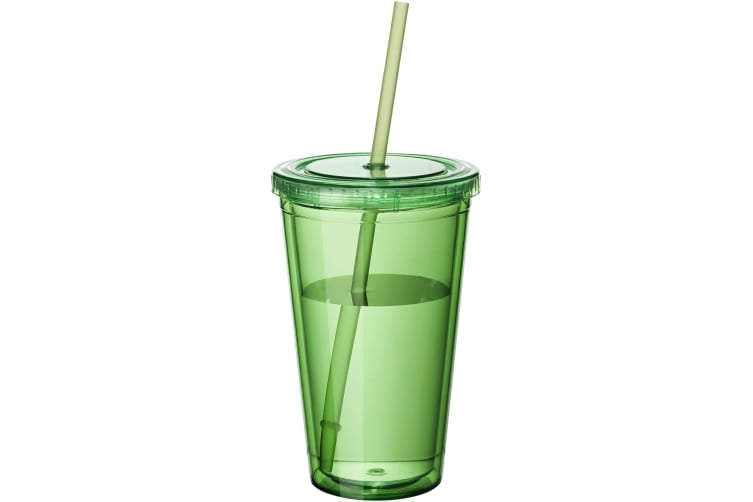 Bullet Cyclone Insulated Tumbler And Straw (Pack of 2) (Transparent Green) (15.5 x 10 cm)