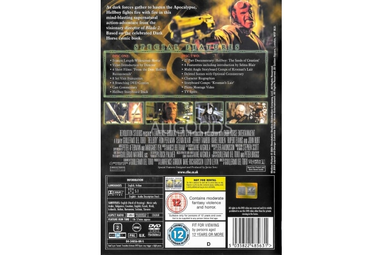 Hellboy - Region 2 Rare- Aus Stock DVD Preowned: Excellent Condition