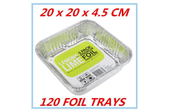 120 x Aluminum Foil Trays BBQ Disposable Roasting takeaway Oven Baking Party NO lid