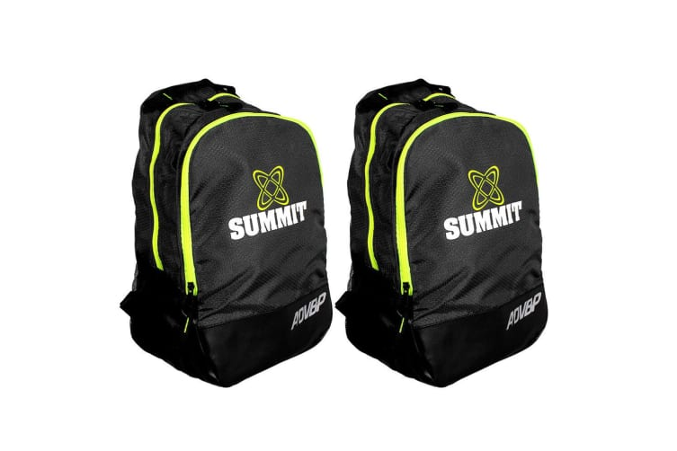 2PK Summit ADV Backpack 42cm for School/Sports Gears Rugby/Football/Soccer/Black