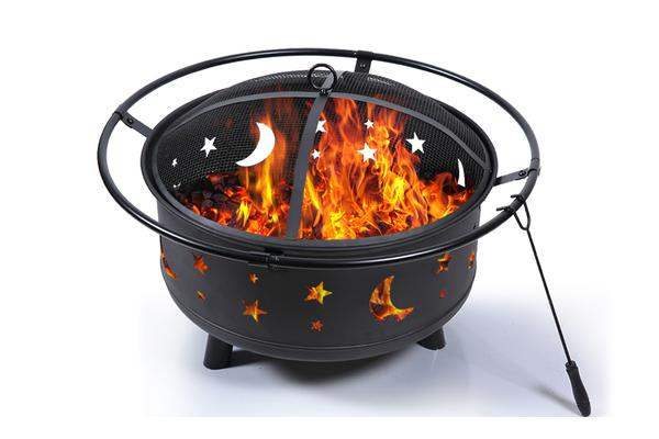 New Outdoor Fire Pit BBQ Portable Camping Fireplace Heater Patio Garden Grill