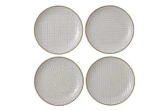Royal Doulton Gordon Ramsay Maze Grill Plate 16cm Mixed White Set of 4