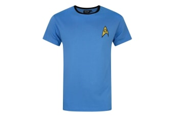Star Trek Official Mens Command Uniform T-Shirt (Blue)