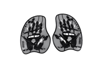 Arena Water Instinct Vortex Evolution Hand Paddle Swimming Medium Silver/Black