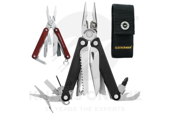 LATEST 2018 LEATHERMAN CHARGE PLUS + MULTITOOL + SHEATH + SQUIRT RED