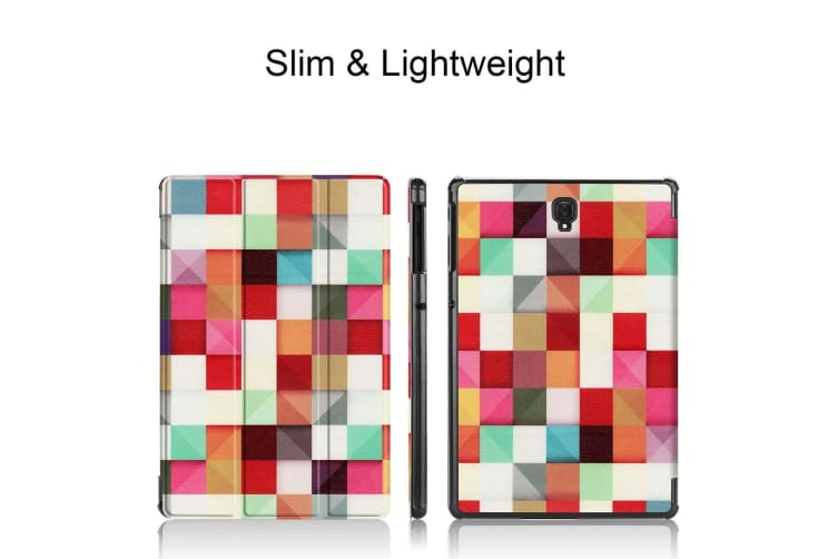 For Samsung Galaxy Tab S4 10.5 Case Colourful Magic Cubes PU Leather Folio Cover