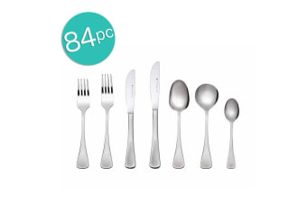 84pc Maxwell & William Cosmopolitan Cutlery Set Stainless Steel Knife Fork Spoon