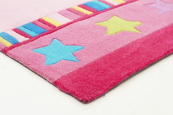Pretty Girls Crown Rug Pink 220x150cm