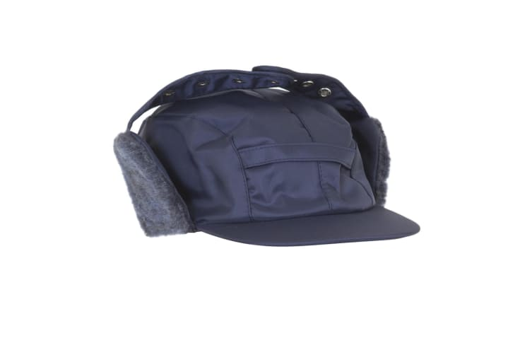 Mens Water Proof Thermal Trapper Hat With Ear Flaps (Navy) (59cm)