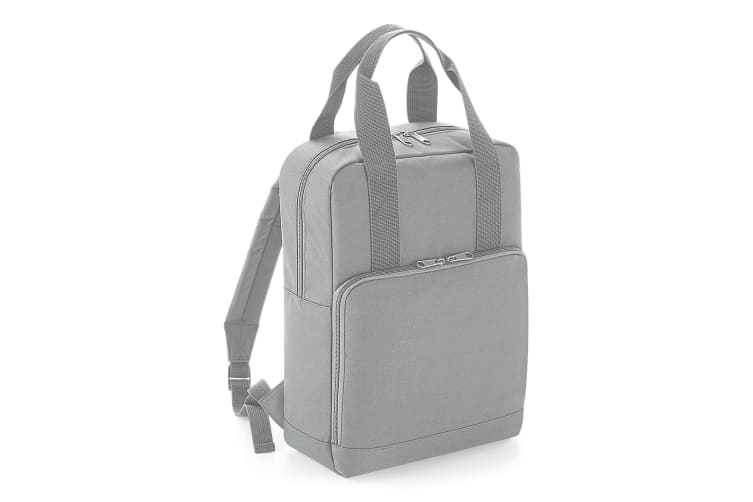 BagBase Twin Handle Backpack (Light Grey) (One Size)