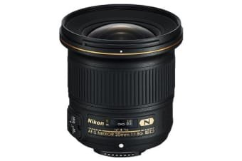 New Nikon AF-S NIKKOR 20mm f/1.8G ED Lens (FREE DELIVERY + 1 YEAR AU WARRANTY)