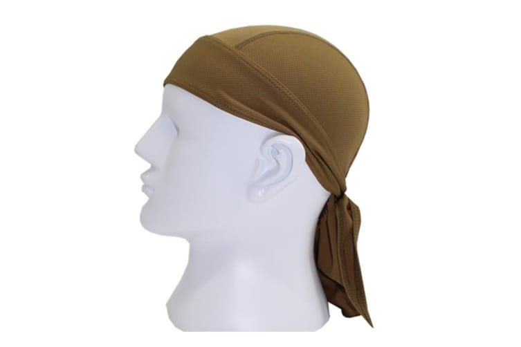 Outdoor Quick-dry Bandana Adjustable Breathable Head Wrap Beanie Brown