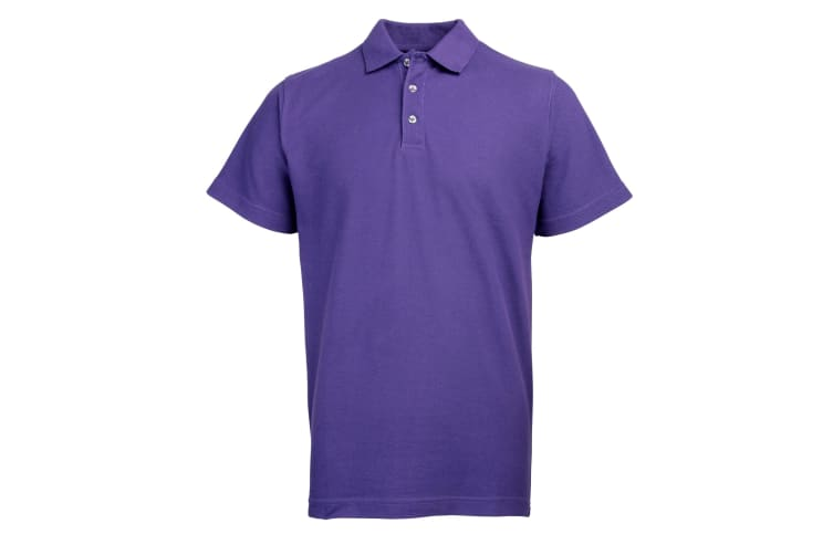 RTY Workwear Mens Pique Knit Heavyweight Polo Shirt (S-10XL) / Extra Large Sizes (Purple) (6XL)