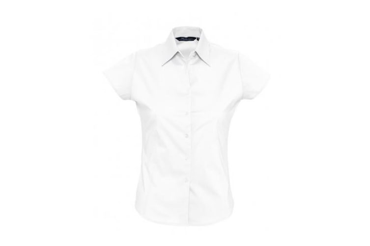SOLS Womens/Ladies Excess Short Sleeve Fitted Work Shirt (White) (L)