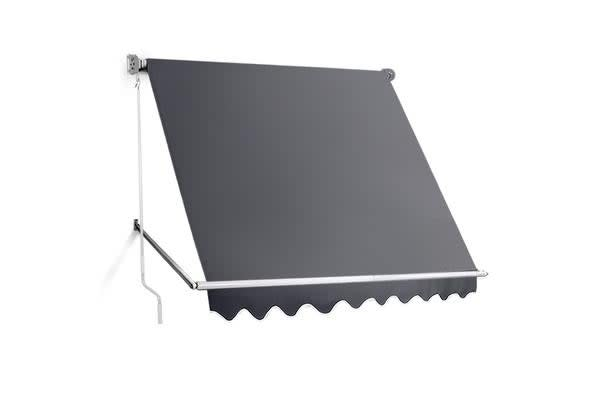 Image of 2.4m x 2.5m Retractable Straight Drop Roll Down Awning (Grey)