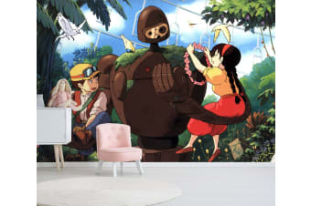 3D Castle In The Sky 005 Anime Wall Murals Woven paper (need glue), XL 208cm x 146cm (WxH)(82''x58'')