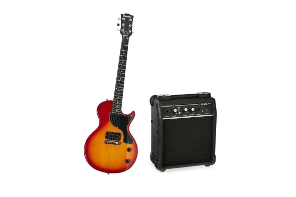 dick smith nz maestro by gibson guitar pack single cutaway cherry sunburst musical instruments. Black Bedroom Furniture Sets. Home Design Ideas