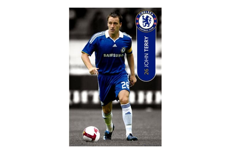 Chelsea FC Official John Terry Football Player Wall Poster (Multicoloured) (91.5 x 61cm)