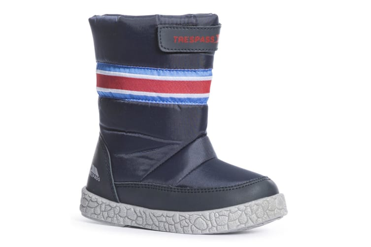 Trespass Boys Alfred Touch Fastening Snow Boots (Navy) (5 Child UK)