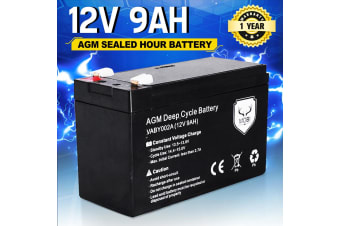 ATEM POWER 12V 9AH AGM SLA Battery Deep Cycle Dual Fridge Solar Power 12 VOLT