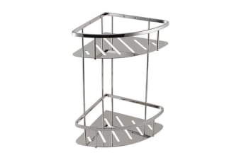 Stainless Steel 2 Tier Shower Caddy Shelf