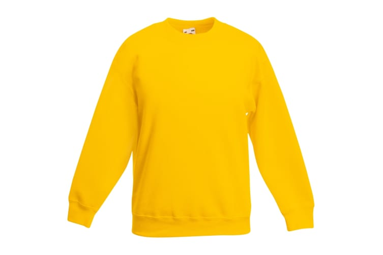 Fruit Of The Loom Kids Unisex Classic 80/20 Set-In Sweatshirt (Pack of 2) (Sunflower) (3-4)