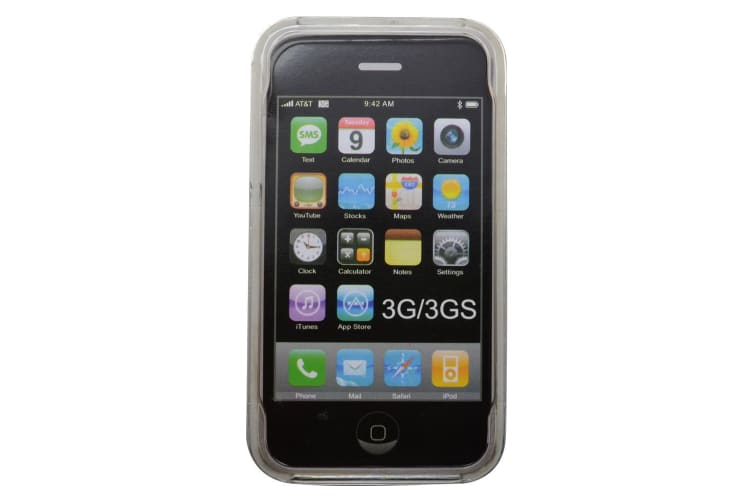 For iPhone 3 3GS Case Modern Transparent Front Back Durable Shielding Cover