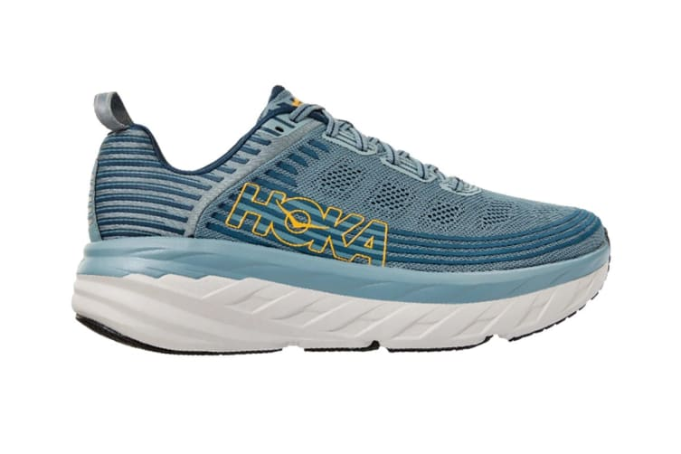 Hoka One One Men's Bondi 6 Running Shoe (Lead/Majolica Blue, Size 10.5)