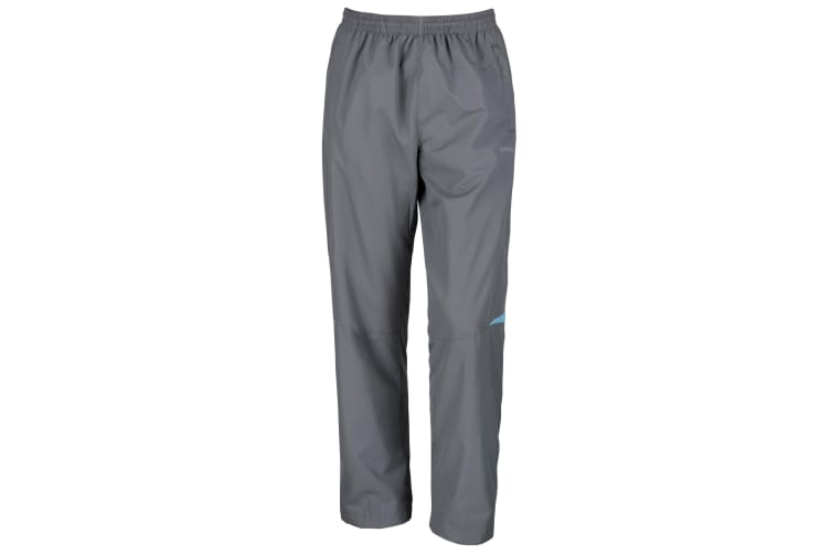 Spiro Mens Micro-Lite Performance Sports Pants / Tracksuit Bottoms (Grey/Aqua) (XL)