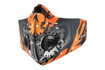 Outdoor Sports Activated Carbon Air Filter Half Face Mask Orange