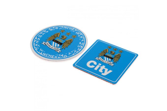 Manchester City FC Multi Surface Signs (Sky Blue/White) (One Size)