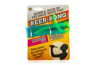 Small Beer Bong - Down a Beer in Seconds Drink Parties Pumping Novelty