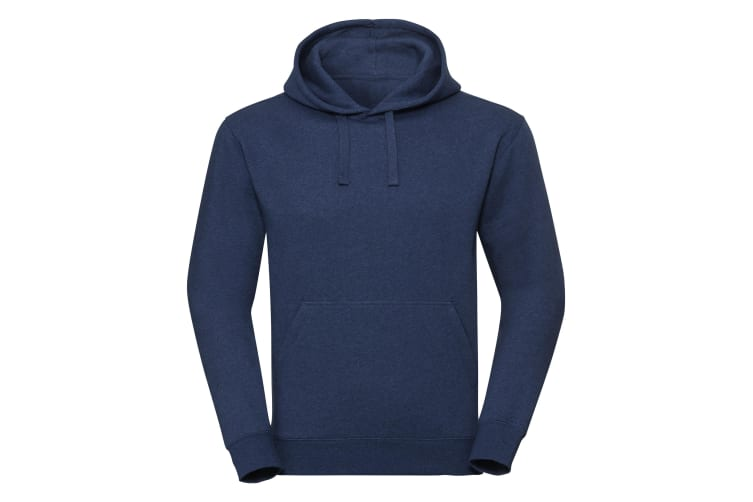 Russell Unisex Authentic Melange Hooded Sweatshirt (Ocean Melange) (L)