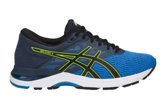 ASICS Men's Gel-Flux 5 Running Shoe (Directoire Blue/Black/Safety Yellow)