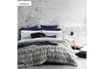 Zander Blue Quilt Cover Set by Platinum Collection