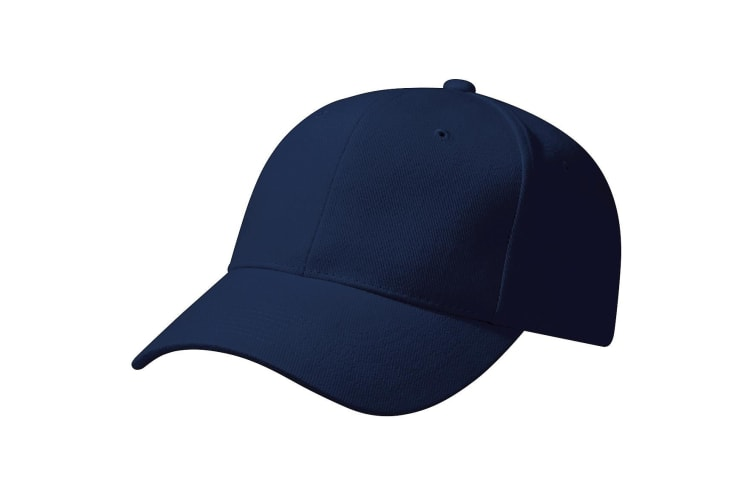 Beechfield Unisex Pro-Style Heavy Brushed Cotton Baseball Cap / Headwear (French Navy) (One Size)