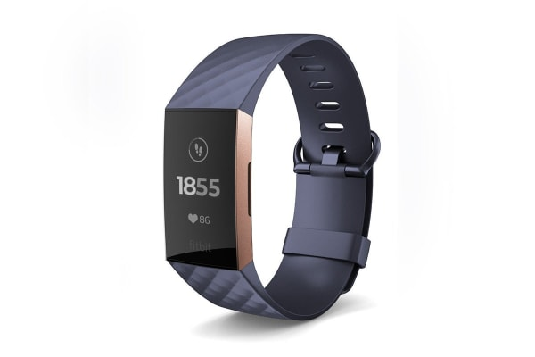 Fitbit Charge 3 (Blue Grey, Rose-Gold Aluminium)